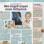 Freizeit Revue 06/2013, Mini-Eingriff erspart neues Hüftgelenk