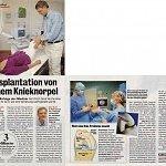Super Illu 13/2012, Transplantation vom eigenen Knieknorpel