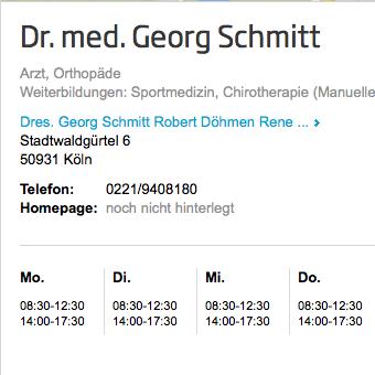 jameda-Bewertung Dr. med. Georg Schmitt