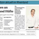 Rheinische Post 02/2015, Neue Wege an Wirbelsäule und Hüfte